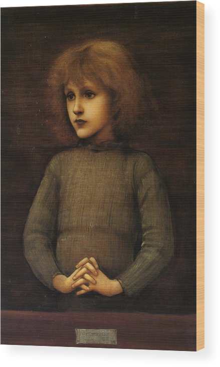 Edward Burne-jones Wood Print featuring the painting Philip Comyns Carr by Edward Burne-Jones