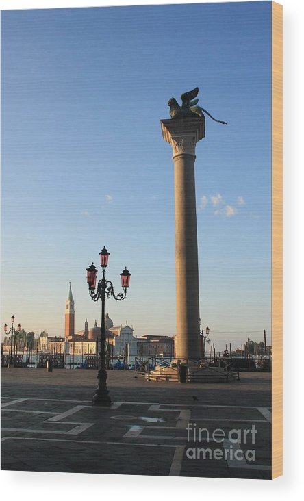 Venice Wood Print featuring the photograph Piazetta San Marco In Venice In The Morning II by Michael Henderson