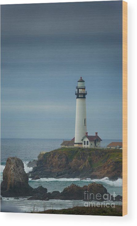 Lighthouse Wood Print featuring the photograph Pidgeon Point Lighthouse by Konstantin Sutyagin