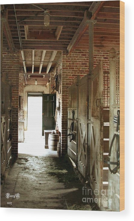 Plantation Wood Print featuring the photograph Plantation Stable by Terry Burgess