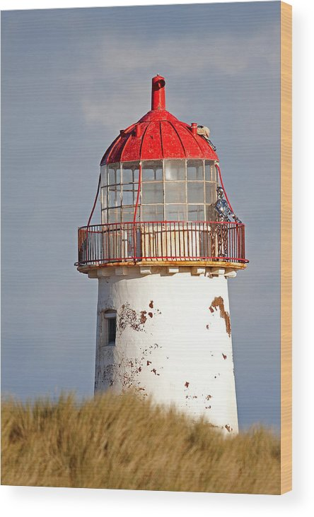 Point Of Ayr Wood Print featuring the photograph Point Of Ayr Lighthouse North Wales by Bob Kemp