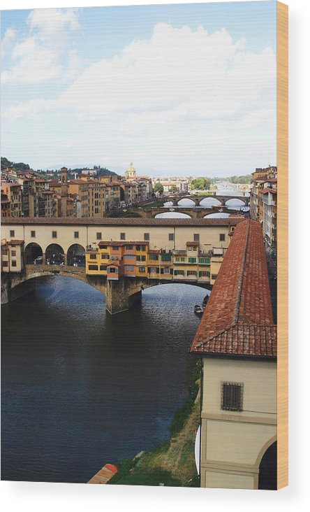 Florence Wood Print featuring the photograph Ponte Vechio Florence by Mathew Lodge