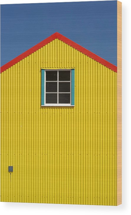 Architecture Wood Print featuring the photograph Primary Colors by Gary Zuercher