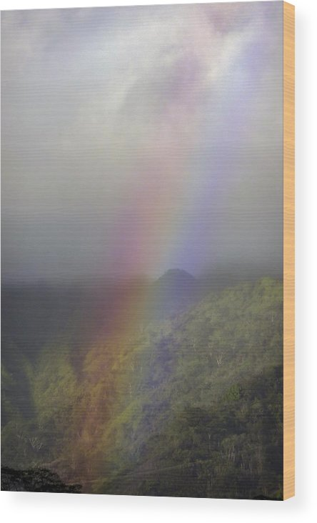 Rainbow Wood Print featuring the photograph Rainbow On Oahu by NaturesPix