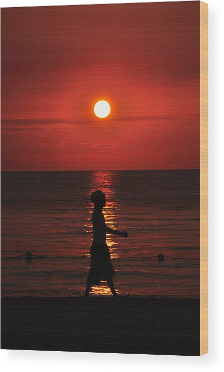 Jamaica Wood Print featuring the photograph Rastaman Sunset by David Halperin