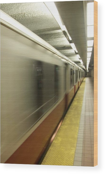 Wood Print featuring the photograph Redline In Motion by Stacy Devanney
