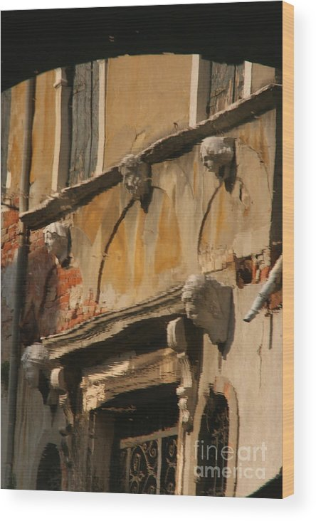 Venice Wood Print featuring the photograph Reflection On Canal In Venice II by Michael Henderson