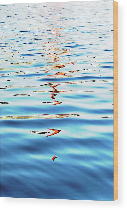 Reflections Wood Print featuring the photograph Reflections In Water by Tinto Designs