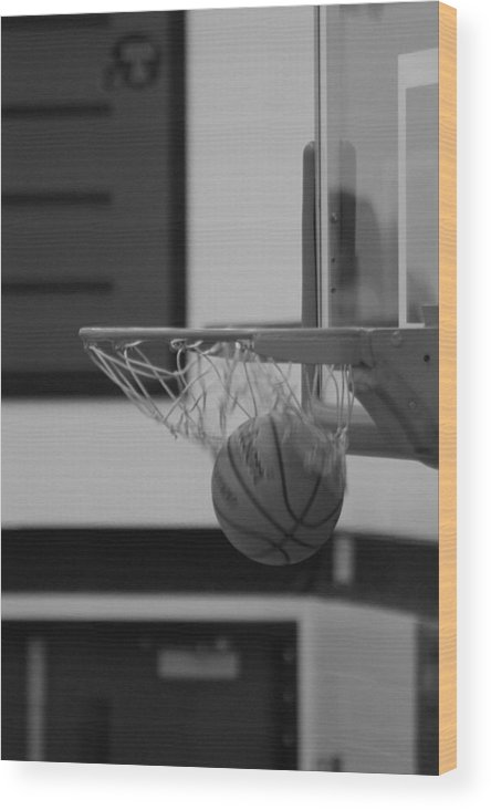 Basketball Wood Print featuring the photograph Release From The Net by Laddie Halupa