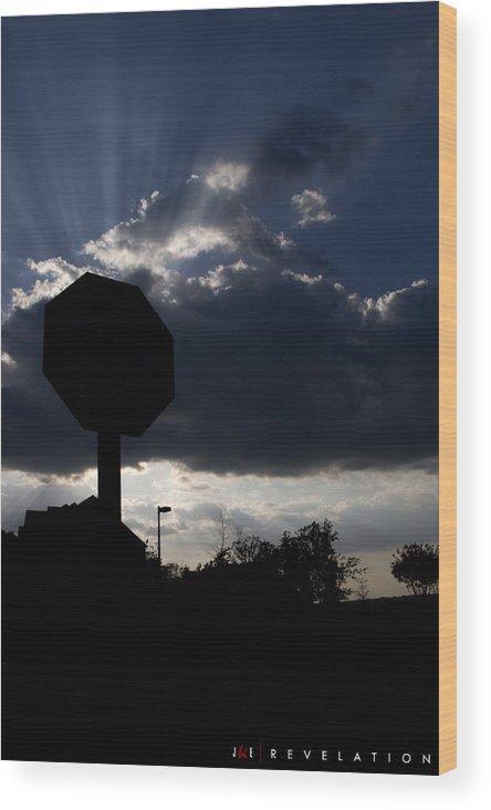 Sky Wood Print featuring the photograph Revelation by Jonathan Ellis Keys