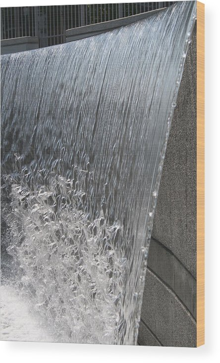 Waterfall Wood Print featuring the photograph Ribbons Of Water by Janet Hall