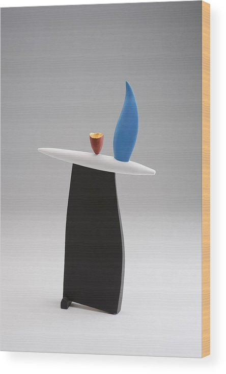 Abstract Wood Print featuring the sculpture Rising by Patricia Volk