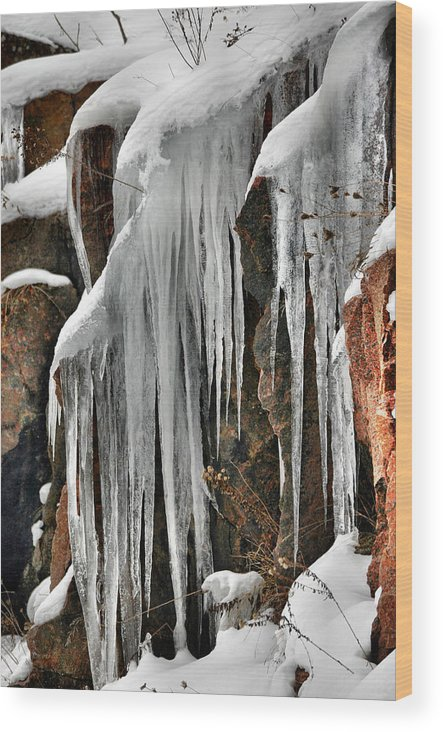 Ice Wood Print featuring the photograph Rock Ice by Rick Couper