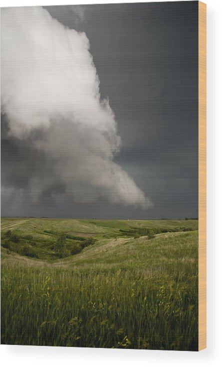 Mesocyclone Wood Print featuring the photograph Rotation by Patrick Ziegler