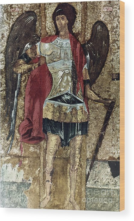 15th Century Wood Print featuring the photograph Russian Icons: Michael by Granger