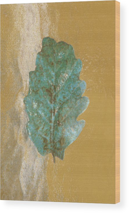 Leaves Wood Print featuring the photograph Rustic Leaf by Linda Sannuti