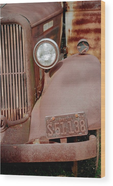 Car Wood Print featuring the photograph Rusty by Flavia Westerwelle