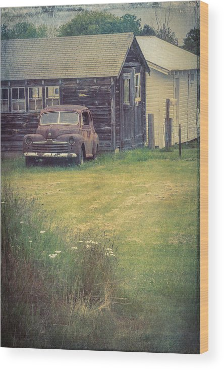 Old Car Wood Print featuring the photograph Rusty Memory by Diane Moore
