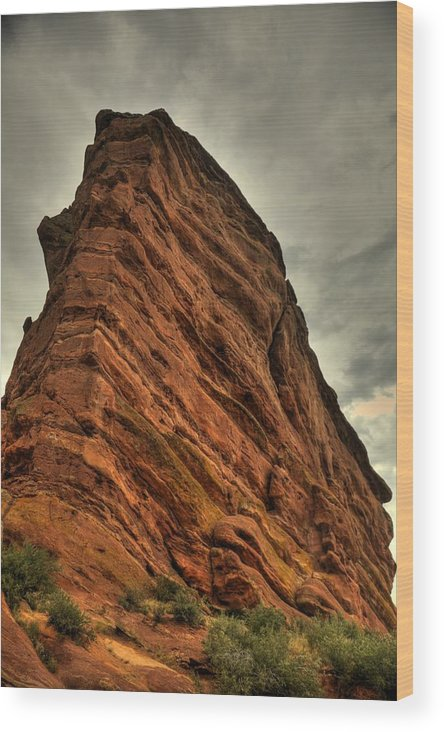 Red Rocks Amphitheater Wood Print featuring the photograph Sail Rock by Patrick Flynn
