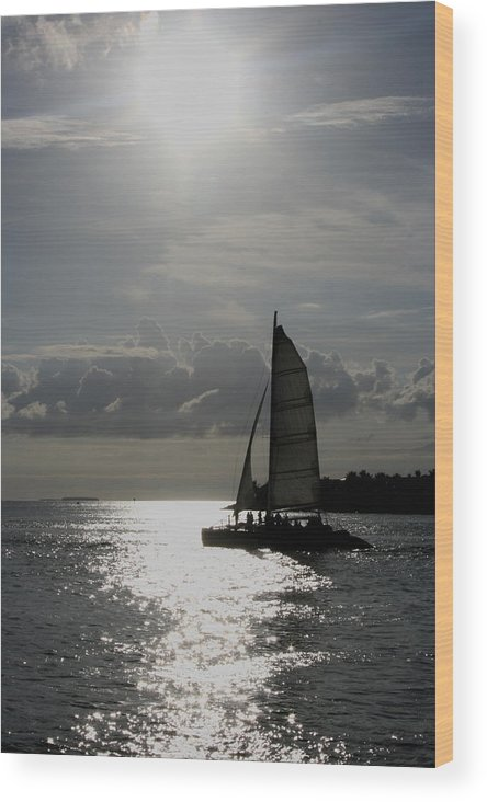 Key Wesr Wood Print featuring the photograph Sailing North by Allan E Dooley Jr