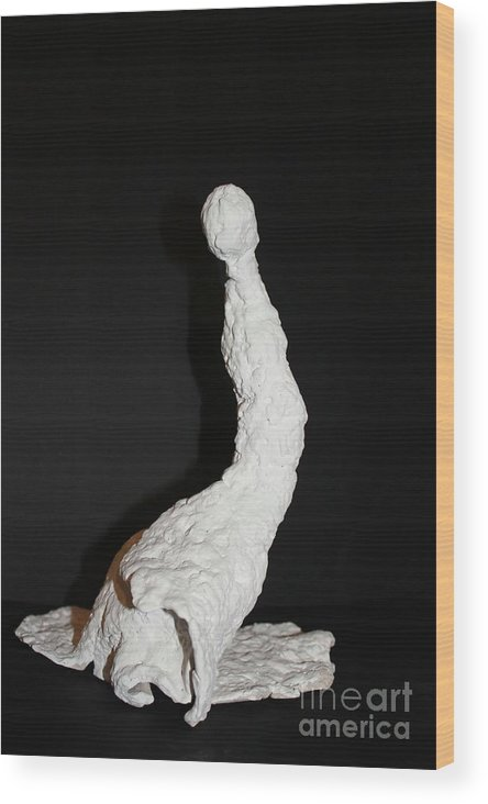 Sculpture Wood Print featuring the sculpture San Antonio Espanola by Martha Hoffer