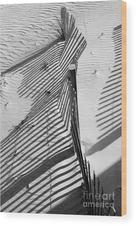 Beach Wood Print featuring the photograph Sand And Sun by Robert Meanor