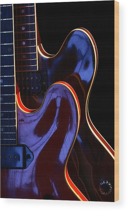 Guitar Wood Print featuring the photograph Screaming Guitars by Art Ferrier