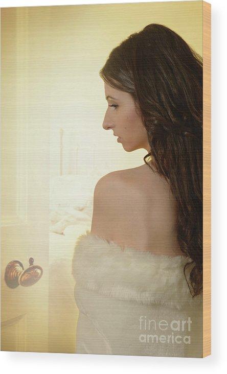 Boudoir Wood Print featuring the photograph Sensual Woman by Amanda Elwell