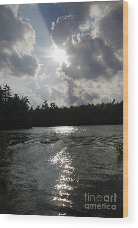Lake Wood Print featuring the photograph Shadow Of The Sun by Joshua Francia