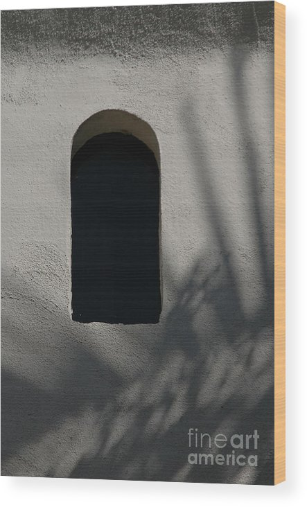 Window Wood Print featuring the photograph Shadows On The Wall by Michael Ziegler