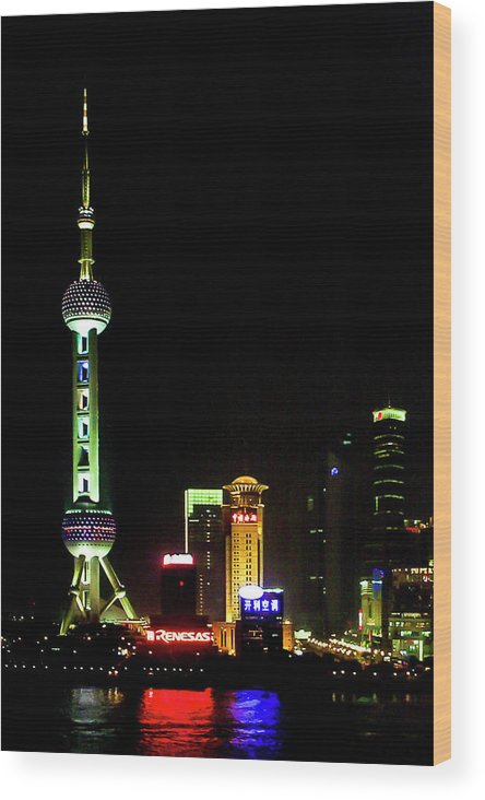 China Wood Print featuring the photograph Shanghai by James Burton