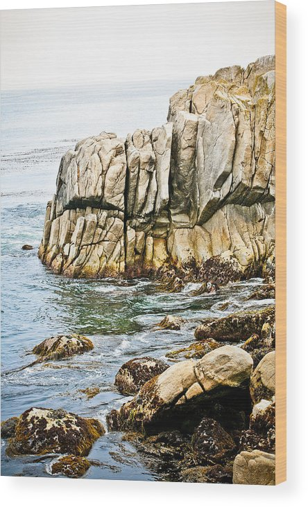 Pebble Beach Wood Print featuring the photograph Shores Of Pebble Beach by Marilyn Hunt