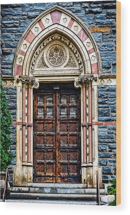 Church Wood Print featuring the photograph Side Entrance by Christopher Holmes