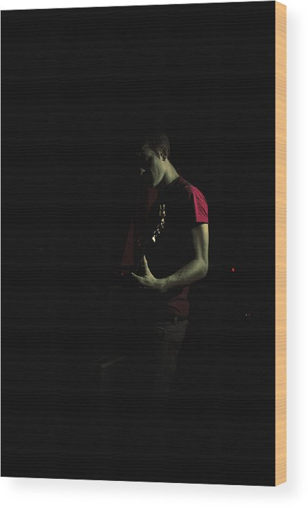 Music Wood Print featuring the photograph 'silent Screams I' by Adam M Dee