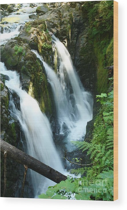 Waterfall Wood Print featuring the photograph Sol Duc Falls by Idaho Scenic Images Linda Lantzy