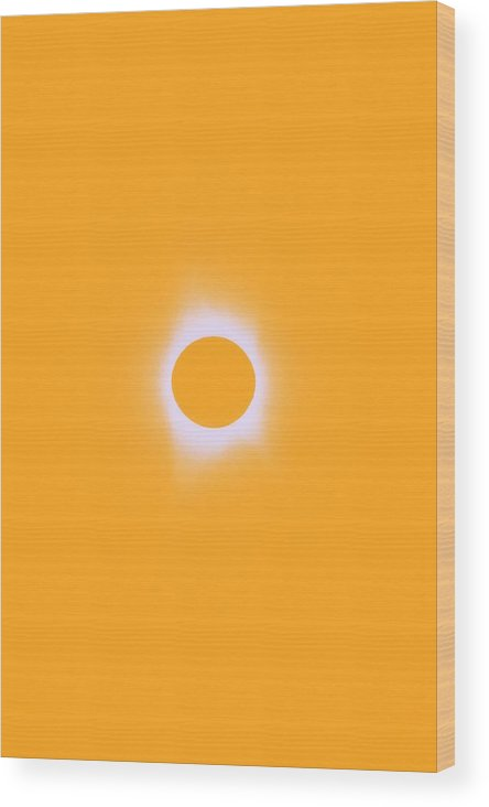 Sun Wood Print featuring the painting Solar Eclipse, Saros Cycle In Orange Colors by Celestial Images