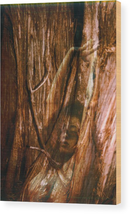 Nude Wood Print featuring the photograph Soon To Be Carved by Richard Henne