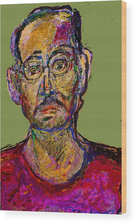 Self Portrait Wood Print featuring the painting Sp200508 by Noredin Morgan