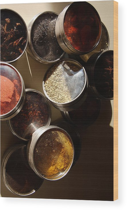 Photography Wood Print featuring the photograph Spices by Heather S Huston