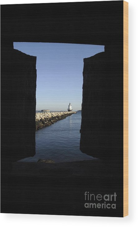 Maine Wood Print featuring the photograph Spring Point Ledge Light - Portland Mane Usa by Erin Paul Donovan