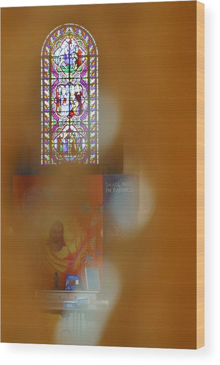 Jez C Self Wood Print featuring the photograph Stained Blur by Jez C Self
