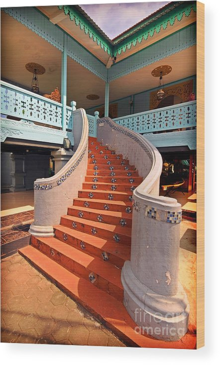 Stairs Wood Print featuring the photograph Stairs by Charuhas Images