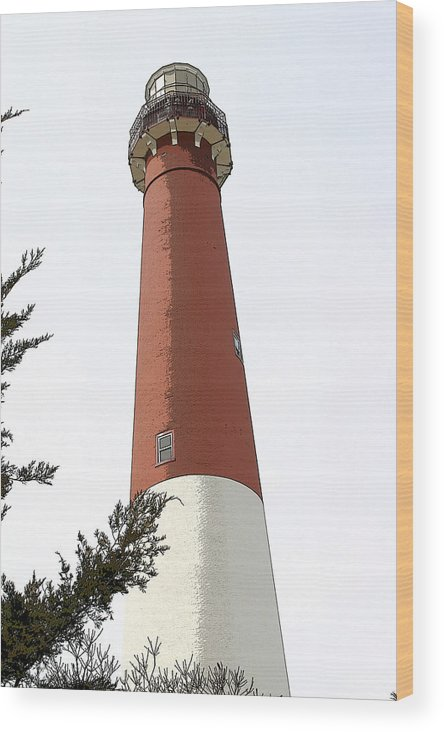 Seascape Wood Print featuring the photograph Standing Tall by Mary Haber