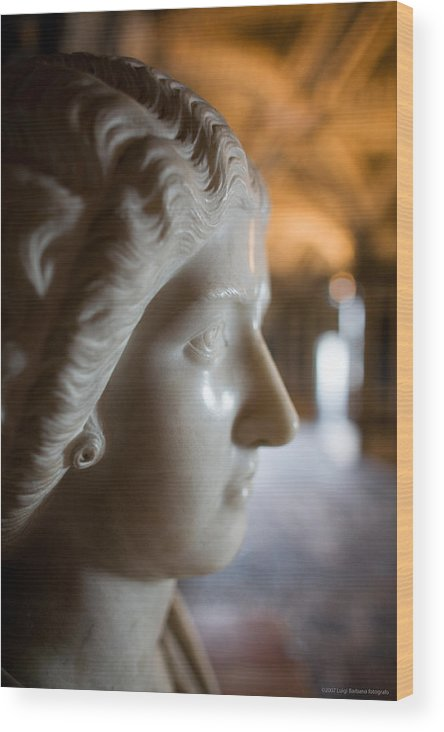Italy Wood Print featuring the photograph Statue by Luigi Barbano BARBANO LLC