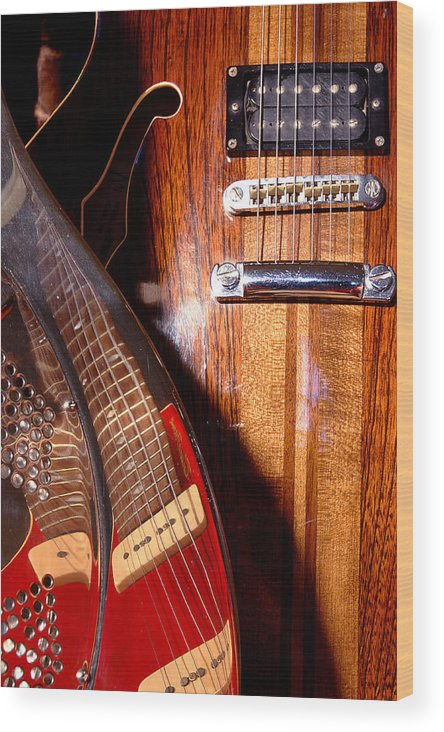 Guitar Wood Print featuring the photograph Steel And Wood 1 by Art Ferrier