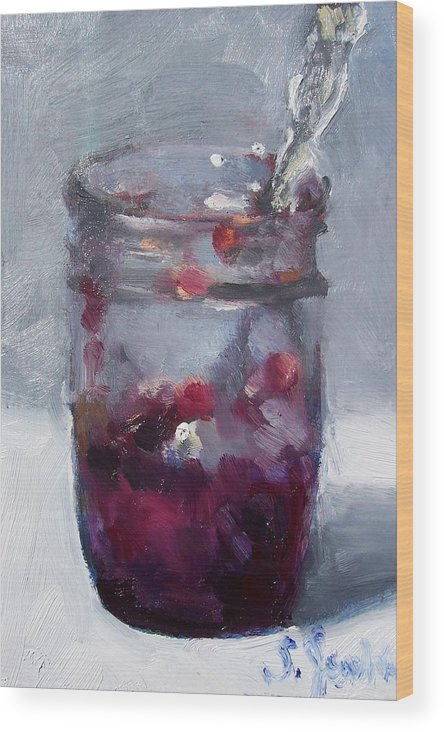Paintings Wood Print featuring the painting Strawberry Jam by Susan Jenkins