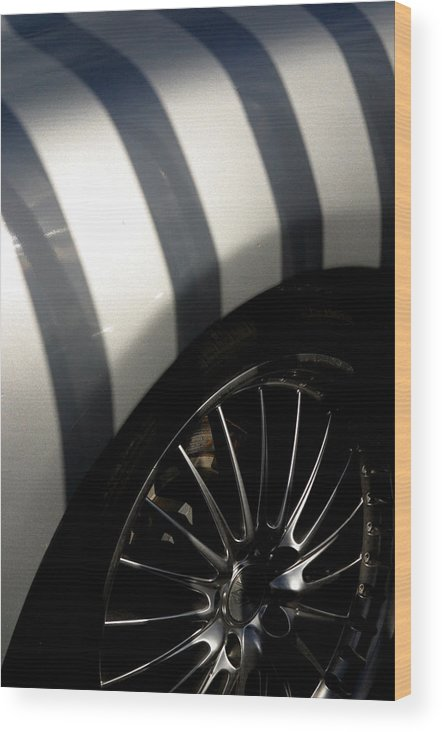 Jez C Self Wood Print featuring the photograph Stripey Wheels by Jez C Self