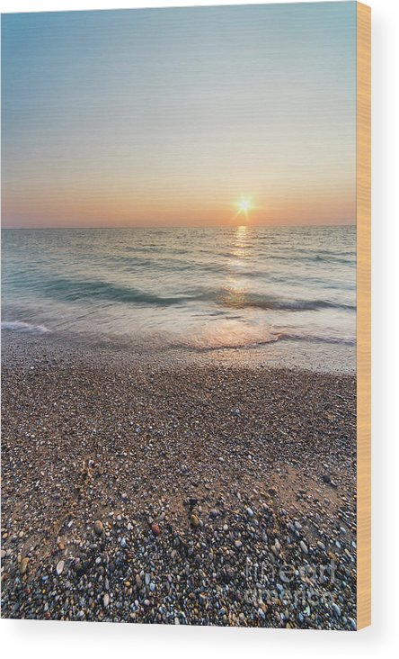 Pierport Wood Print featuring the photograph Summer Sunset At Pierport by Twenty Two North Photography