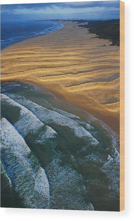Coast Wood Print featuring the photograph Sun Rise Coast by Skip Hunt