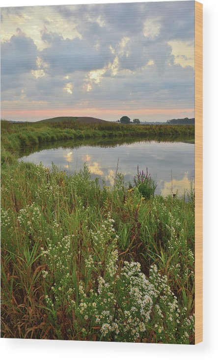 Glacial Park Wood Print featuring the photograph Sunrise On The Nippersink by Ray Mathis